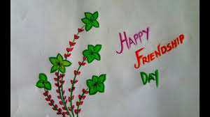 drawing of happy friendship day step by ...