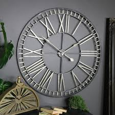 extra large rustic gold skeleton wall clock