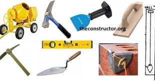 40 construction tools list with images