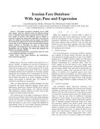 pdf iranian face database with age