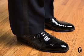 black tie tuxedo shoes patent leather