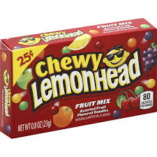 lemonhead chewy flavored cans fruit