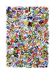 Handmade Alphabet Collage Of Magazine Letters Art Print by ...
