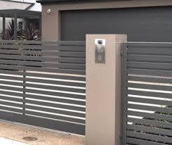 Http Www Caststone Com Au Blog Wp Content Uploads 2012 05 Aluminium Slats Jpg Modern Fence Design Modern Fence Fence Design