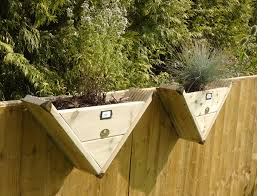 90 Triangle Herb Over The Fence Panel Hook Reverse Decking Planter