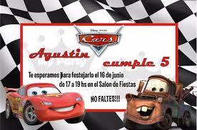 Invitaciones Cumpleanos Cars Para Fondo De Pantalla En 4k 7