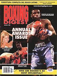Floyd Mayweather Jr. & Ivan Robinson Autographed Boxing Digest ...