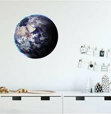 Stick It Graphix Earth 2 Planet Wall Decal Sticker Vinyl Solar System Boys Nursery Room Decor