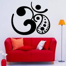 Om Symbol Wall Decal Vinyl Sticker Buddha Sacred Yoga Logo Wall Sticker Yoga Art Murals Indian Design Interior Home Decor C302 Wall Stickers Aliexpress