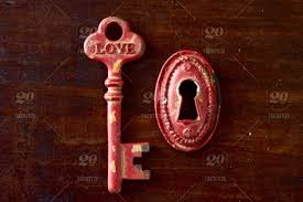 nominated red rustic vintage key with