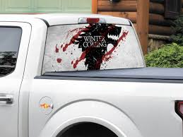 Product Winter Is Coming House Stark Tv Show Game Of Thrones Rear Window Decal Sticker Pick Up Truck Suv Car Any Size