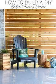 How To Build A Diy Cedar Privacy Screen The Happy Housie