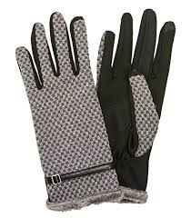 most wanted womens grey leather gloves