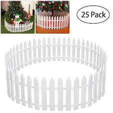 White Plastic Picket Fence Miniature Home Garden Christmas Xmas Tree Wedding Party Decoration 25 Pieces Party Diy Decorations Aliexpress