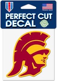 Amazon Com Wincraft Usc Trojans 4 X4 Perfect Cut Die Cut Decal Southern California Trojans Sports Outdoors