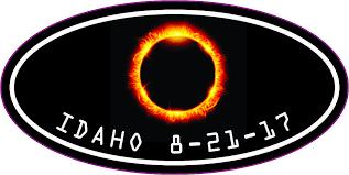 4in X 2in Oval Idaho Eclipse Sticker Vinyl Car Luggage Decal Cup Stickers Stickertalk