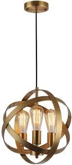 industrial spherical pendant light