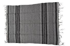 woollen mexican blanket l grey