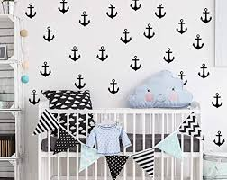 Amazon Com Anchor Wall Decals Nursery Nursery Wall Decal Nautical Nursery Wall Decal Stickers Wall Vinyl Sticker Nursery Decals Baby Room Decor F15 Handmade
