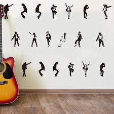 Michael Jackson Dancer Wall Sticker Bedroom Nursery Rock Super Star Dance Music Singer Wall Decal Living Room Vinyl Decor Y200103 Wall Sticker Designs Wall Sticker For Kids From Shanye10 8 68 Dhgate Com