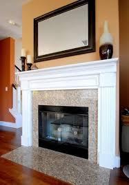 oak mantel makeover home fireplace