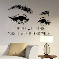 Eyelashes Wall Decal Lash Eyebrows Vinyl Stickers Beauty Quotes Girls Bedroom Home Decor Wall Sticker Salon Window Poster G03 Wall Stickers Aliexpress