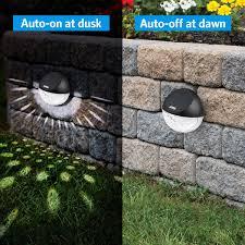 Solar Fence Lights Outdoor 4 Pack 22lm Deck Lights Amir