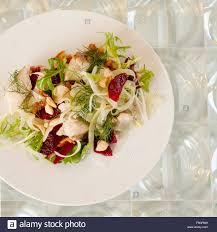 Smoked sturgeon salad with blood orange ...