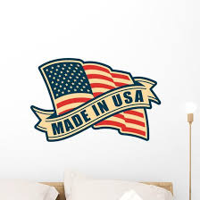 Made Usa Flag Wall Decal Wallmonkeys Com