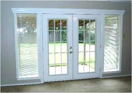 exterior french doors with built in