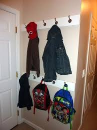 Easy Diy Coat Hooks For Small Space Now This Could Work Behind Our Front Door For The Kids Diy Coat Hooks Coat Storage Diy Coat