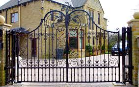 Wrought Iron Gates And Railings Black Metal Gate Chain Link Fence Gate Doors Aliexpress