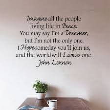 New Arrival Hot Selling John Lennon Imagine Vinyl Wall Peace Quote Decal Lettering Wall Decal Stickers Home Decor Mural Wall Stickers Aliexpress