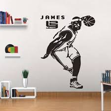 3d Basketball Star James Wall Stickers Home Decor Self Adhesive Kids Boys Room Sport Wall Decals Wall Stickers Aliexpress