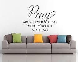 Pray Wall Decal Etsy