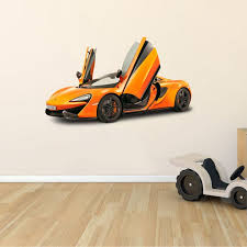 Removable Home Wall Mclaren 570 Gt Decor Design Adhesive Automobile Wall Decal 12 X 20 Vinyl Bedroom Living Room Luxury Sports Super Car F1 Racing Automotive Team Wall Decoration Sticker Walmart Com