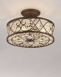 crystal ceiling light fixture horchow com