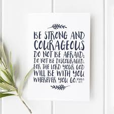Joshua 1 8 9 Be Strong And Courageous Baptism Gift Etsy Bible Verse Prints Be Strong And Courageous Bible Verse Wall Art
