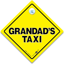 Super Grandad Blue Non Personalised Novelty Baby On Board Car Window Sign Baby Car Stickers