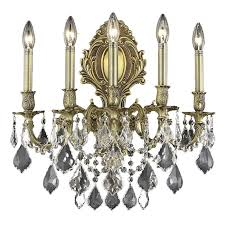 light spectra crystal wall sconce