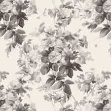 london rose wallpaper smoke grey