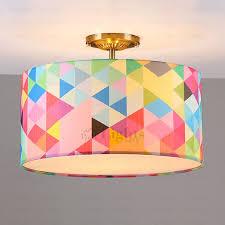 Pop Art Drum Shaped 3 Light Kids Room Ceiling Light Kids Room Lighting Bedroom Ceiling Light Ceiling Lights