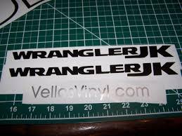 2018 Jeep Wrangler Jk Unlimited Fender Decals Sport Rubicon Jk