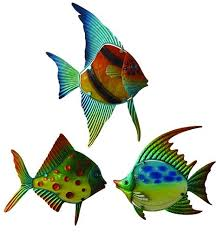enchanted garden 13 metal fish wall
