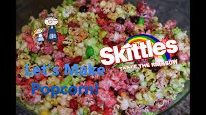 homemade skittles popcorn