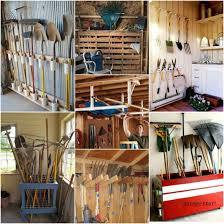 creative ways to shovels rakes
