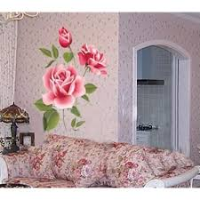 Amazon Com Rose Flower Removable Pvc Wall Sticker Home Decor Room Decal Large Size Home Kitchen