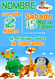 Invitacion De Cumpleanos Digital Baby Tv Parar Whatsaap 90 00