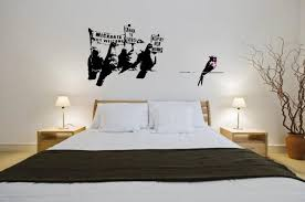 Banksy Graffiti 2014 Anti Immigration Pigeons Large Wall Stickers Decal New Ebay