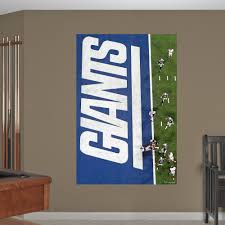 Giants Overhead Super Bowl Xlvi Touchdown Mural New York Giants Wall Decal New York Giants Wall Decals Mural